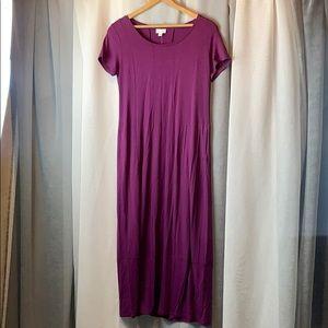 New J.Jill Short Sleeve Maxi Dress XS raspberry